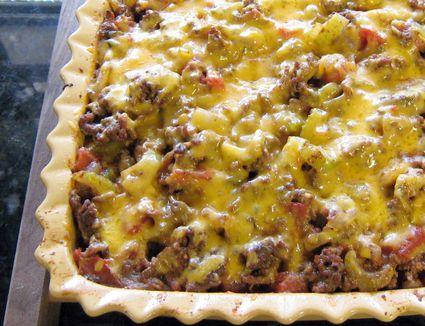 Southwestern-style ground beef and potato casserole