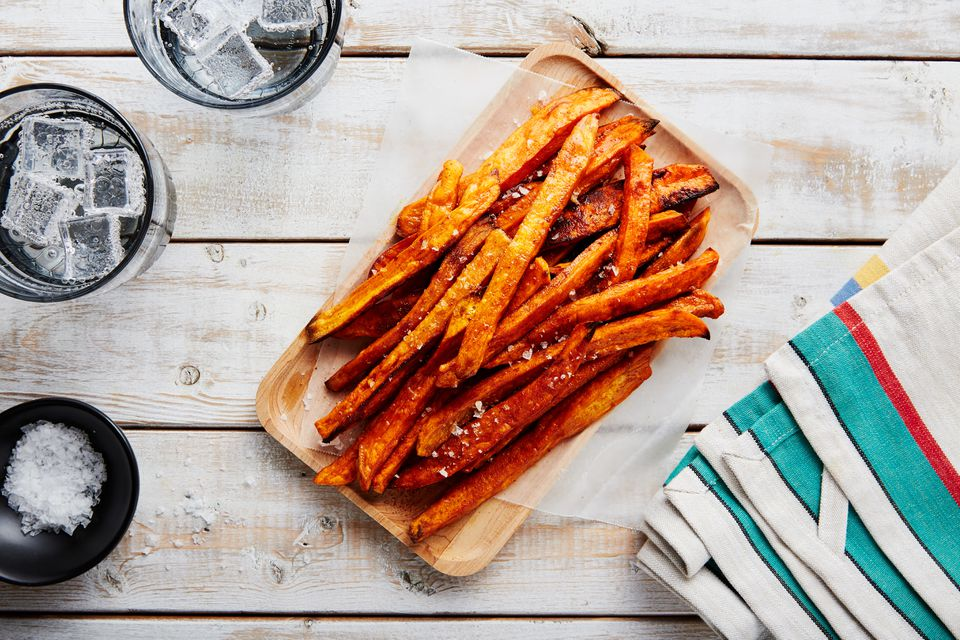 Low fat baked sweet potato fries