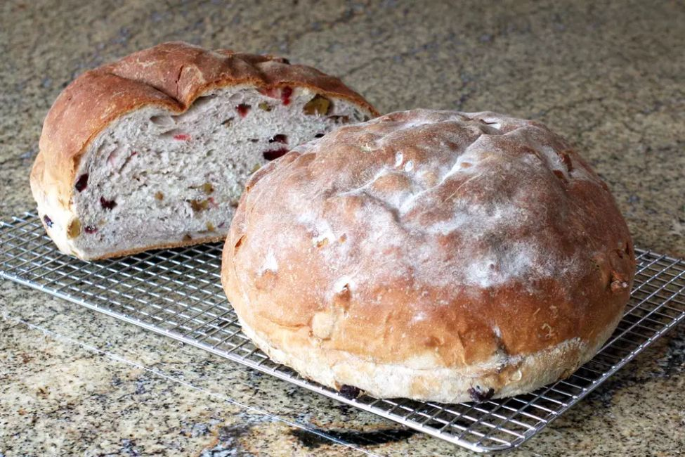 Crusty Cranberry Walnut Bread