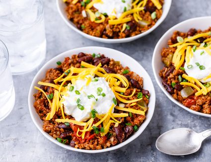 Basic chili con carne with beans and beef recipe