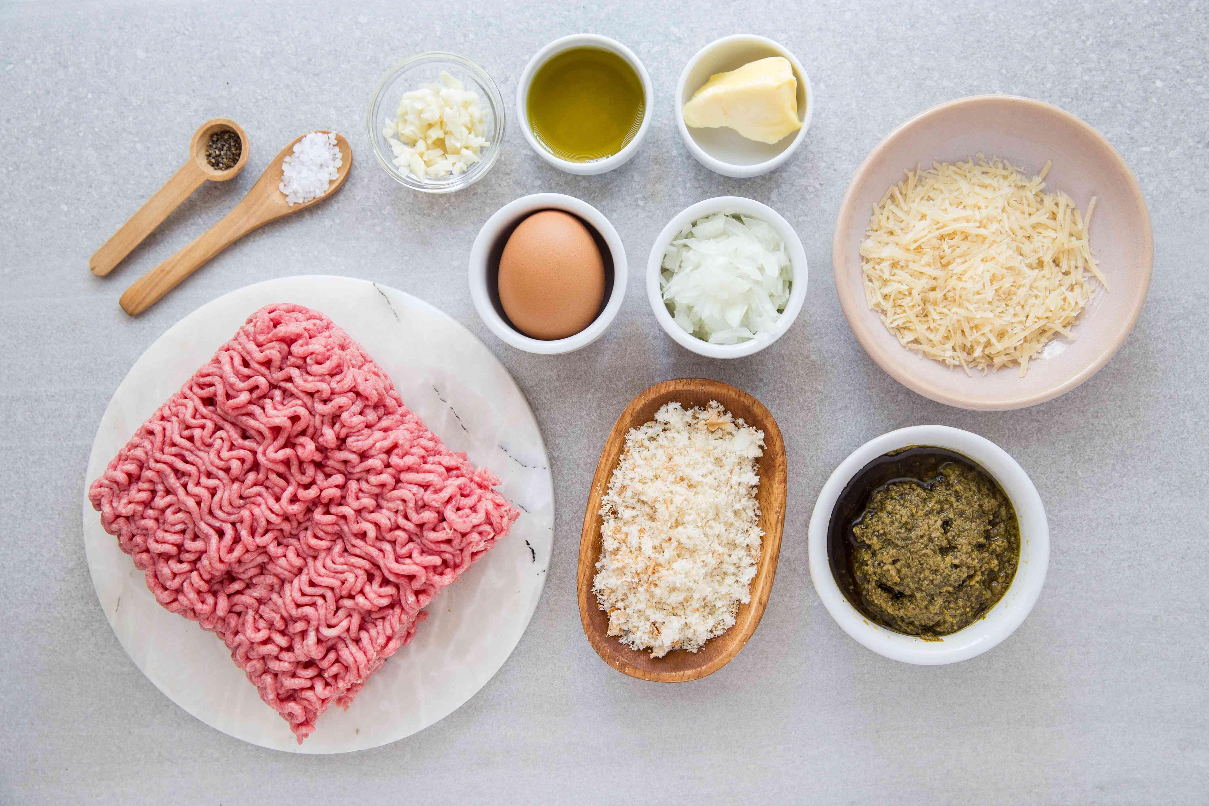 Pesto Meatballs ingredients
