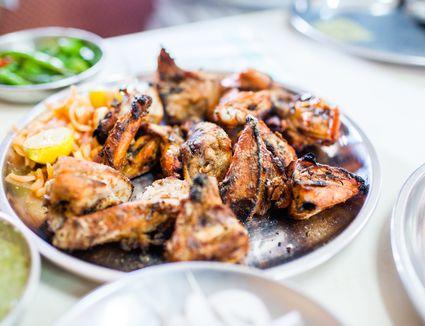 Indian cuisine - Grilled Tandoori chicken