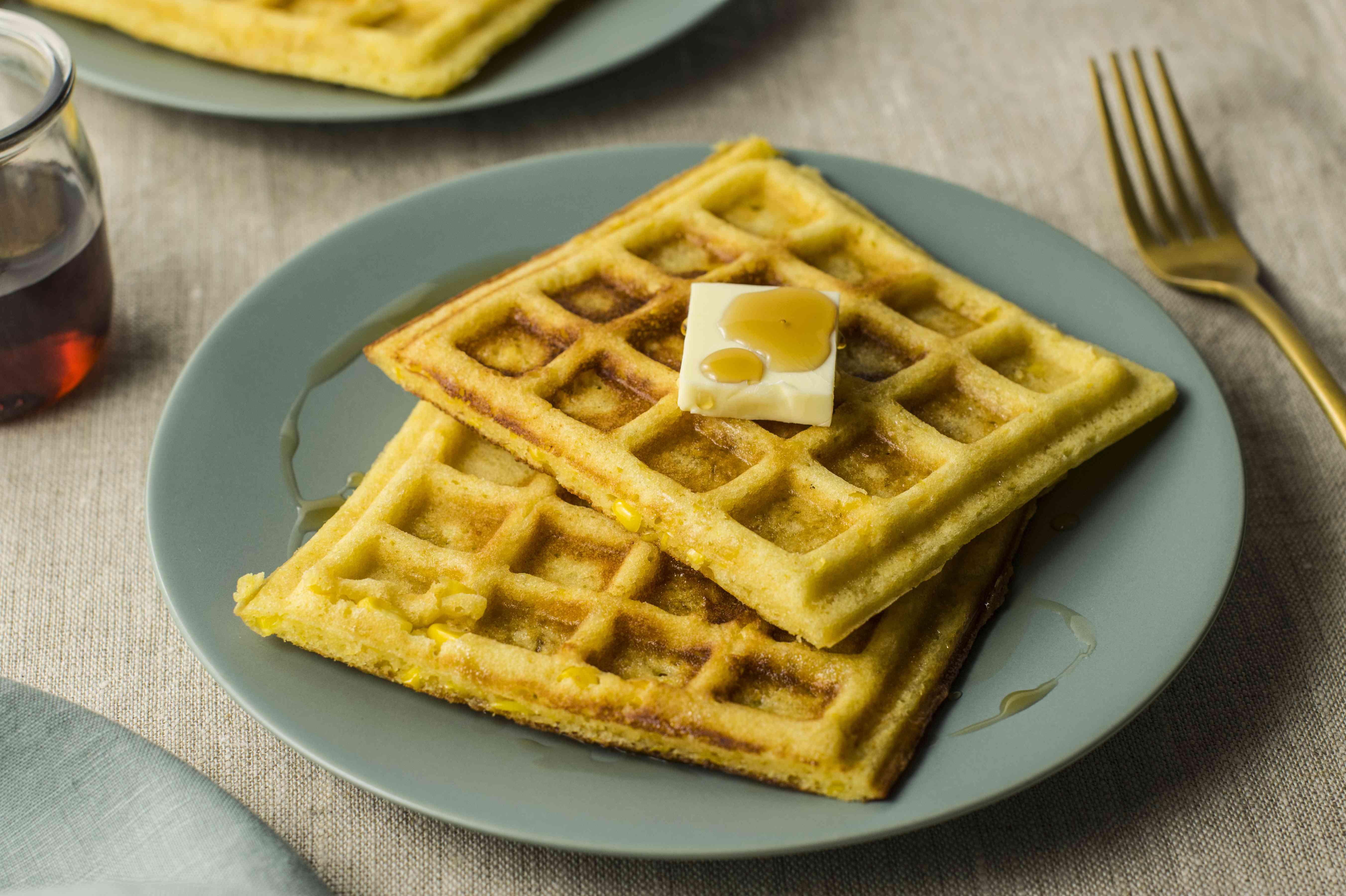 Sweet corn waffles recipe
