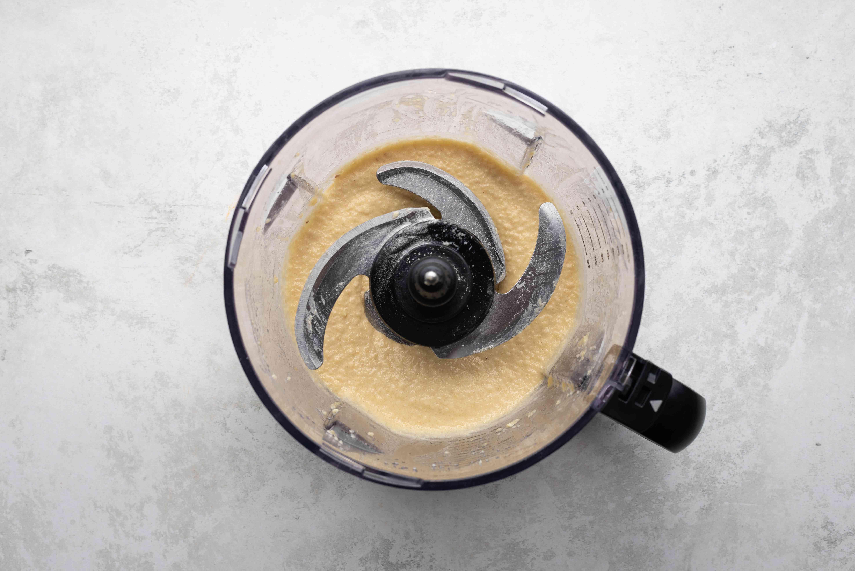 almond cream in a food processor