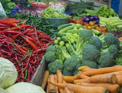 Fresh vegetables at traditional market