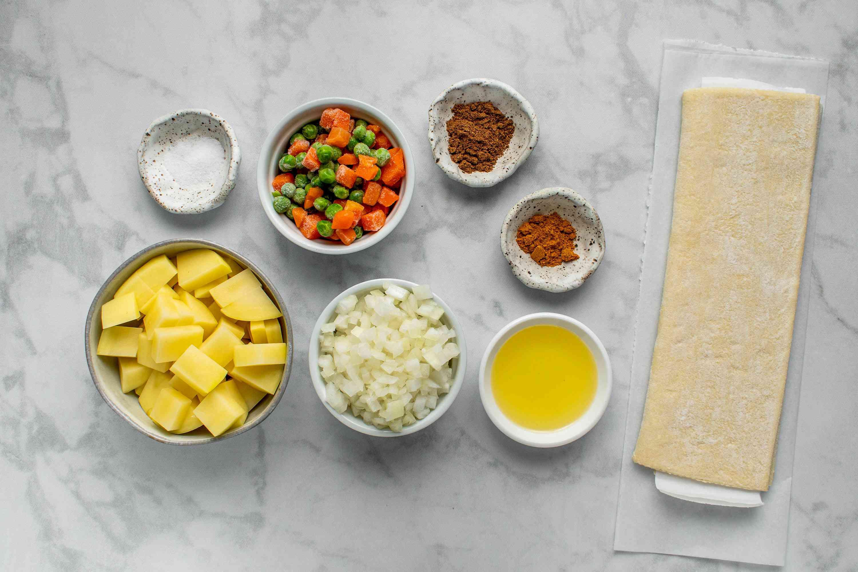 Vegetable Samosas ingredients