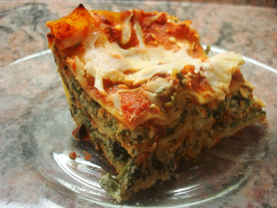 receta de lasaña de espinacas (lácteos)