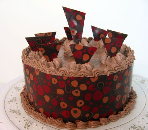 How To Wrap A Cake With Chocolate Tutorial