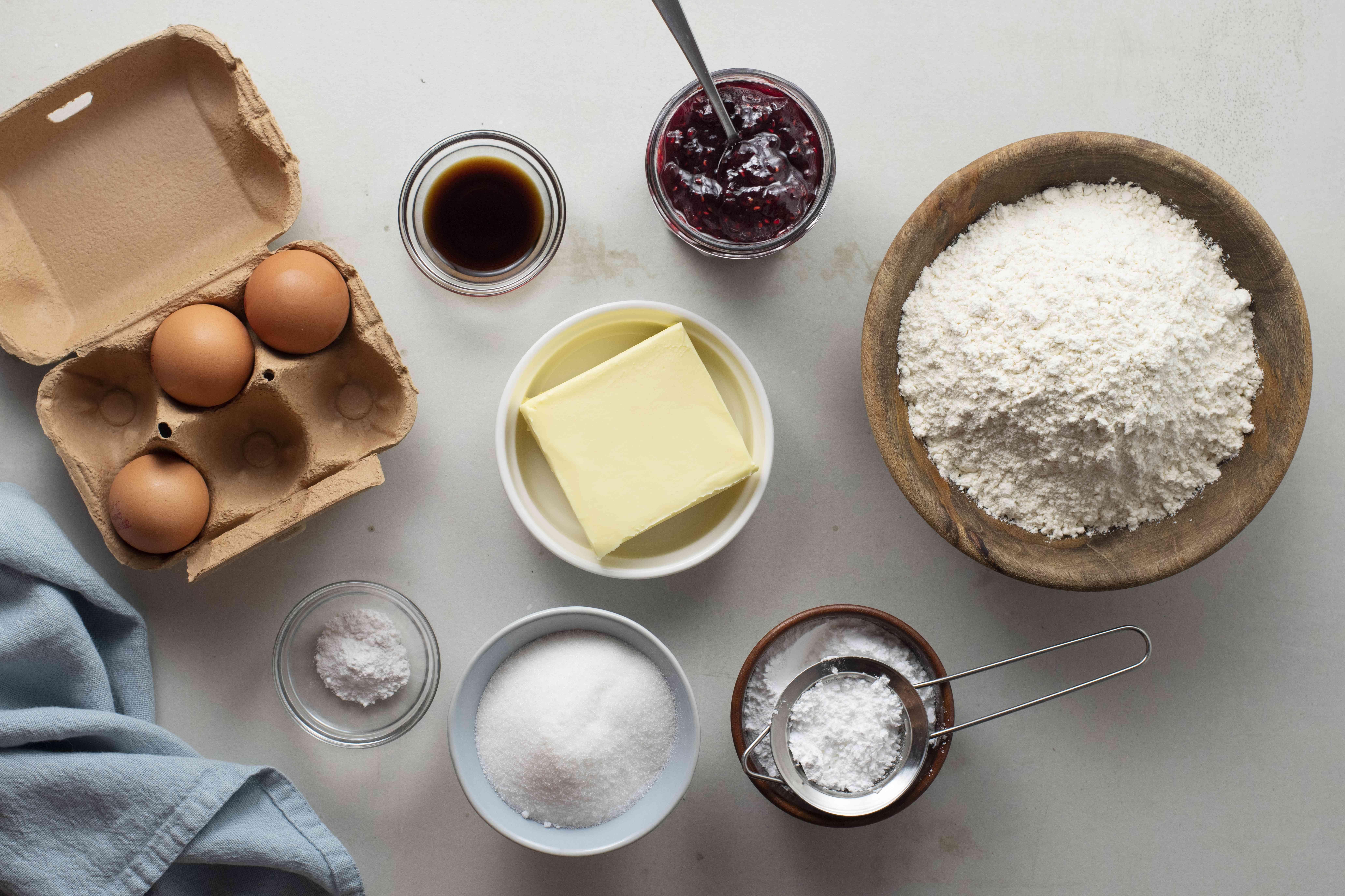 Ingredients for Bulgarian Christmas cookies