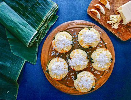 Bibingka (Filipino Savory Coconut Rice Cake)