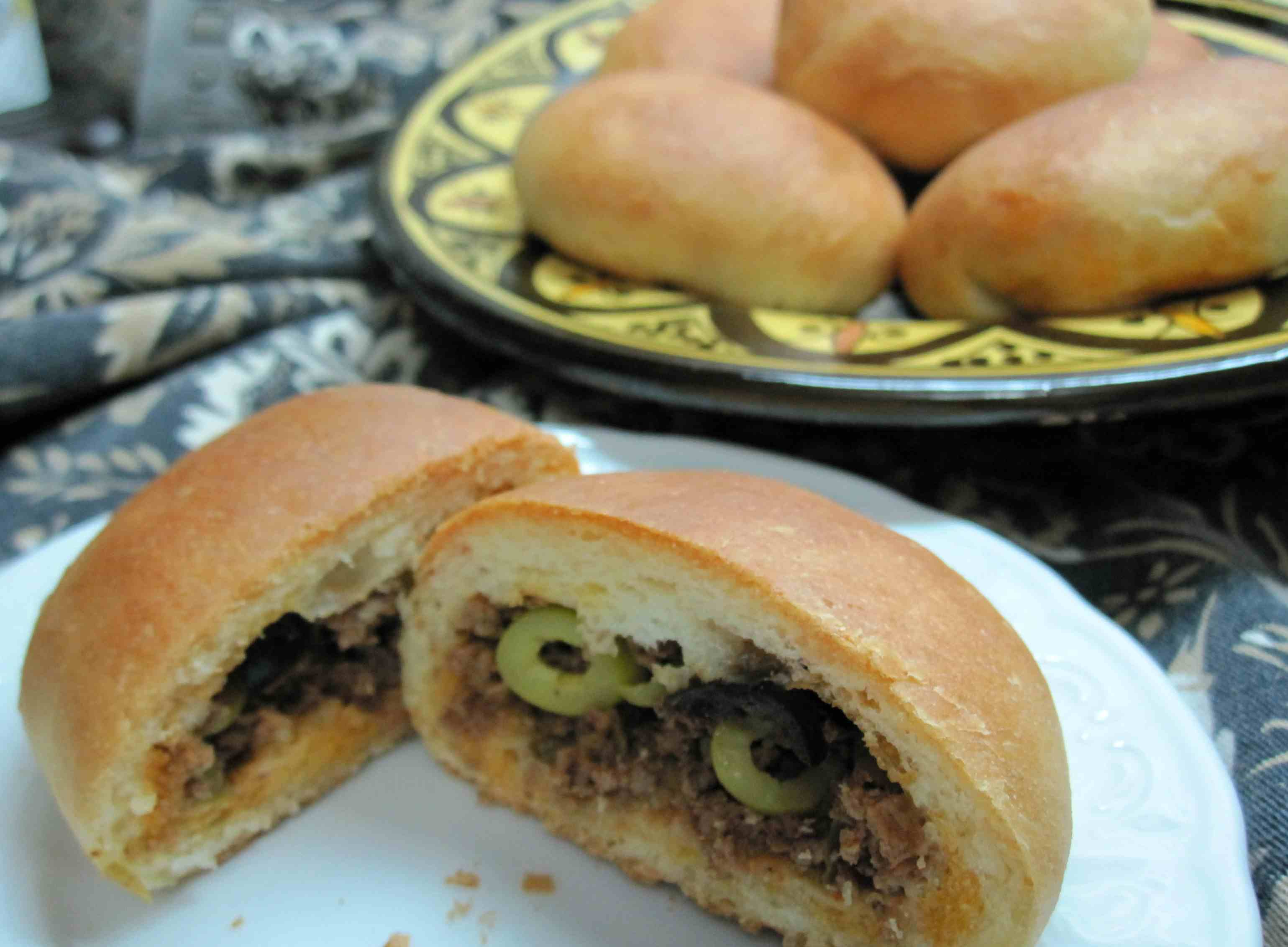 Rolls with Moroccan Kefta Filling