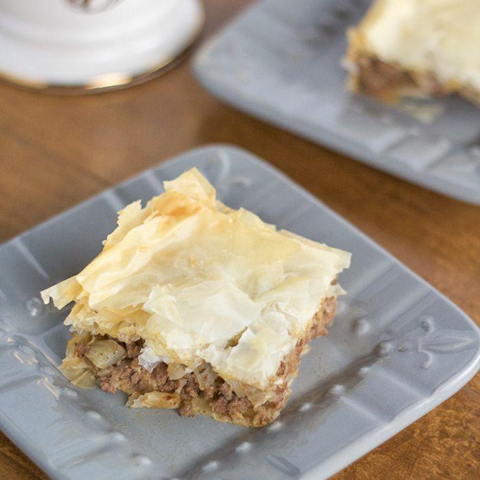 Receta griega de pastel de carne (Kreatopita)