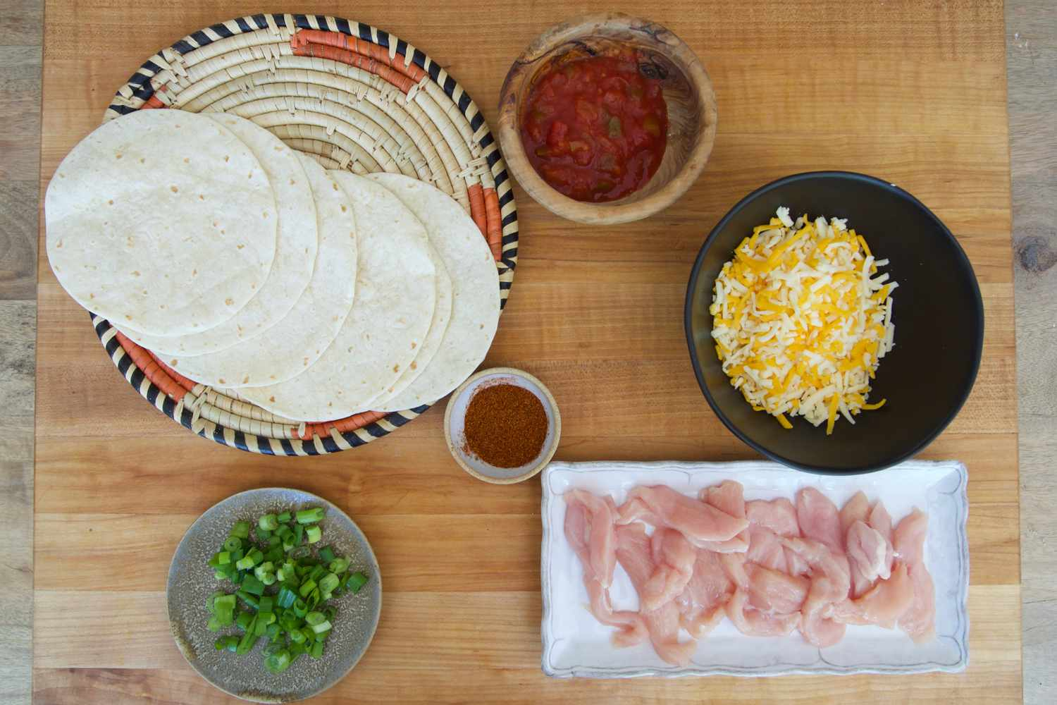 Dinnerly ingredients on a cutting board