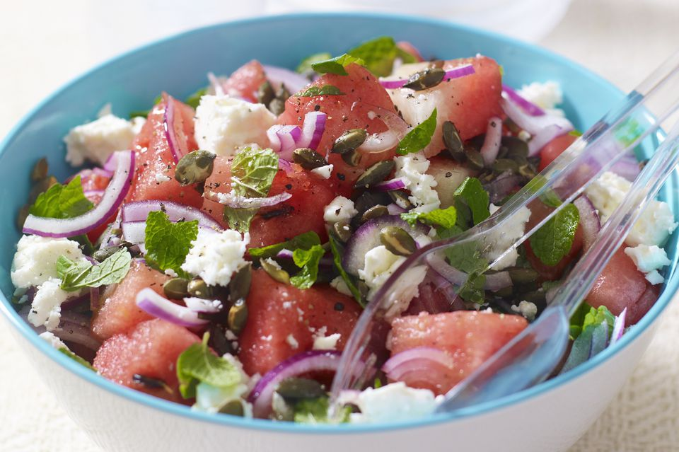 Cool, refreshing watermelon salad