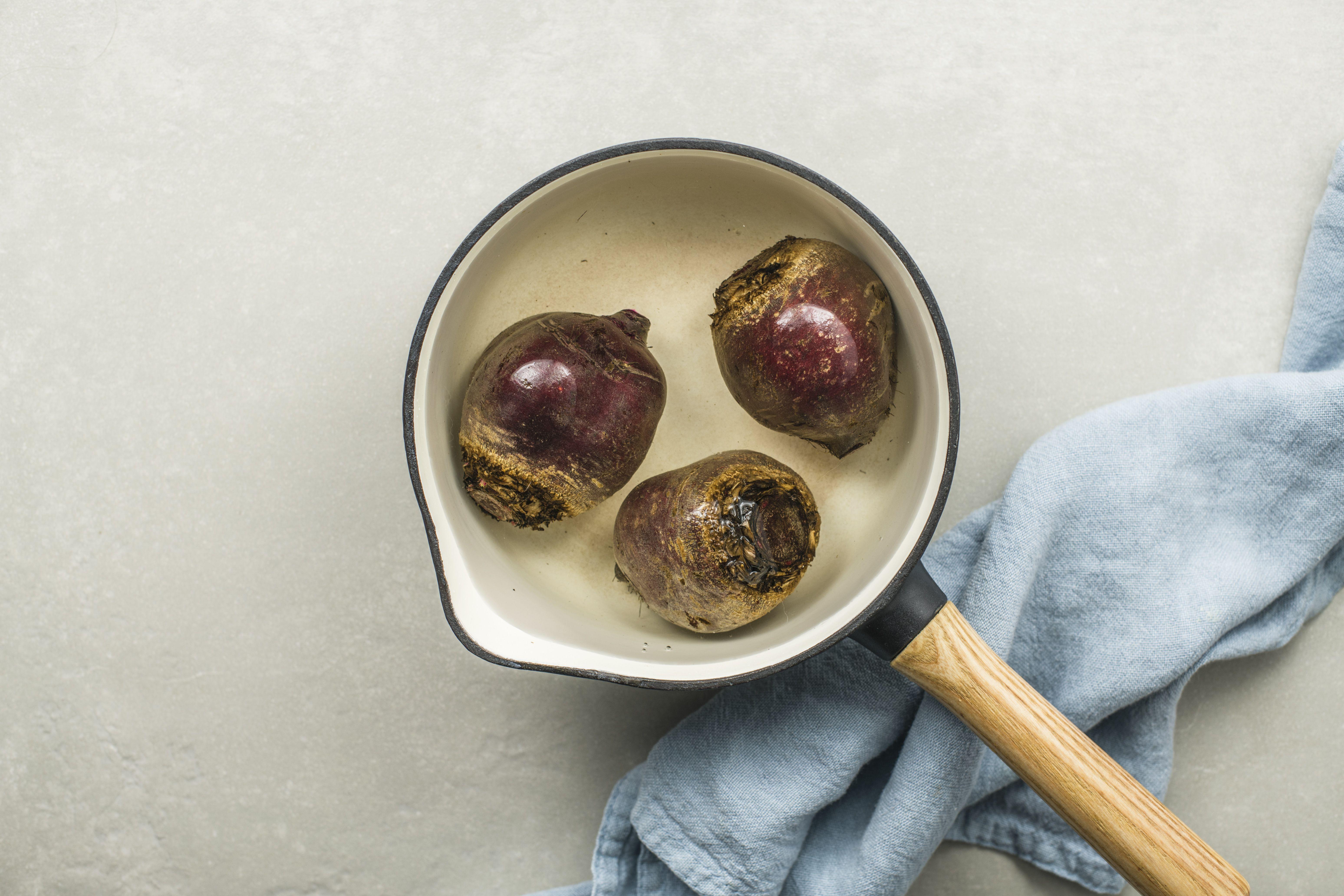 put beets into saucepan
