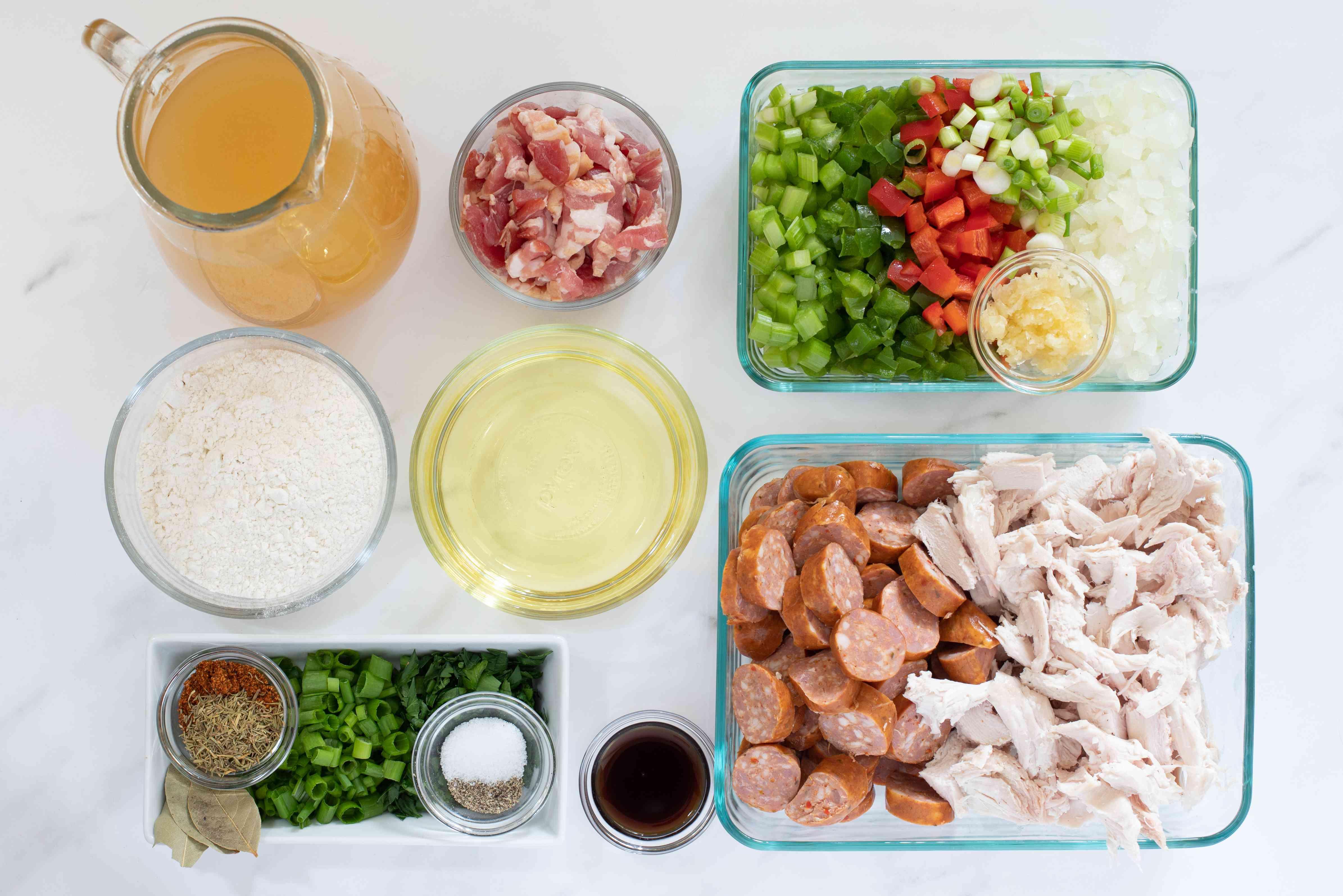 ingredients for turkey gumbo