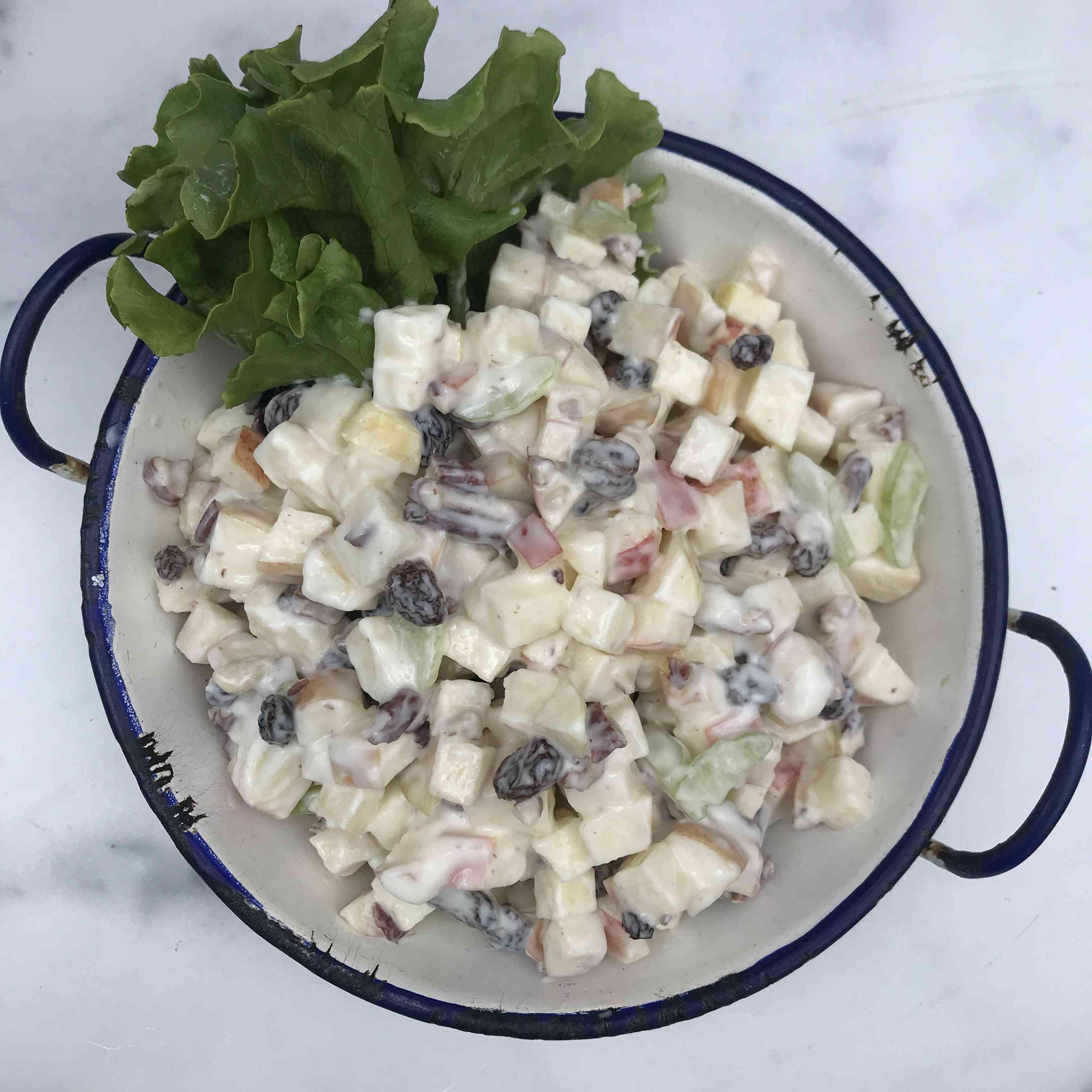 Apple Salad with Pecans and Raisins