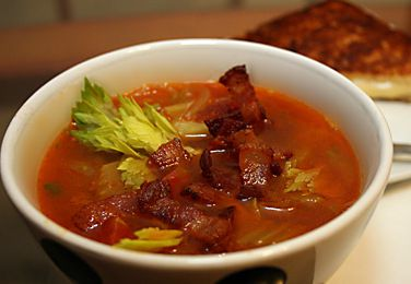 Braised Celery Soup with Bacon