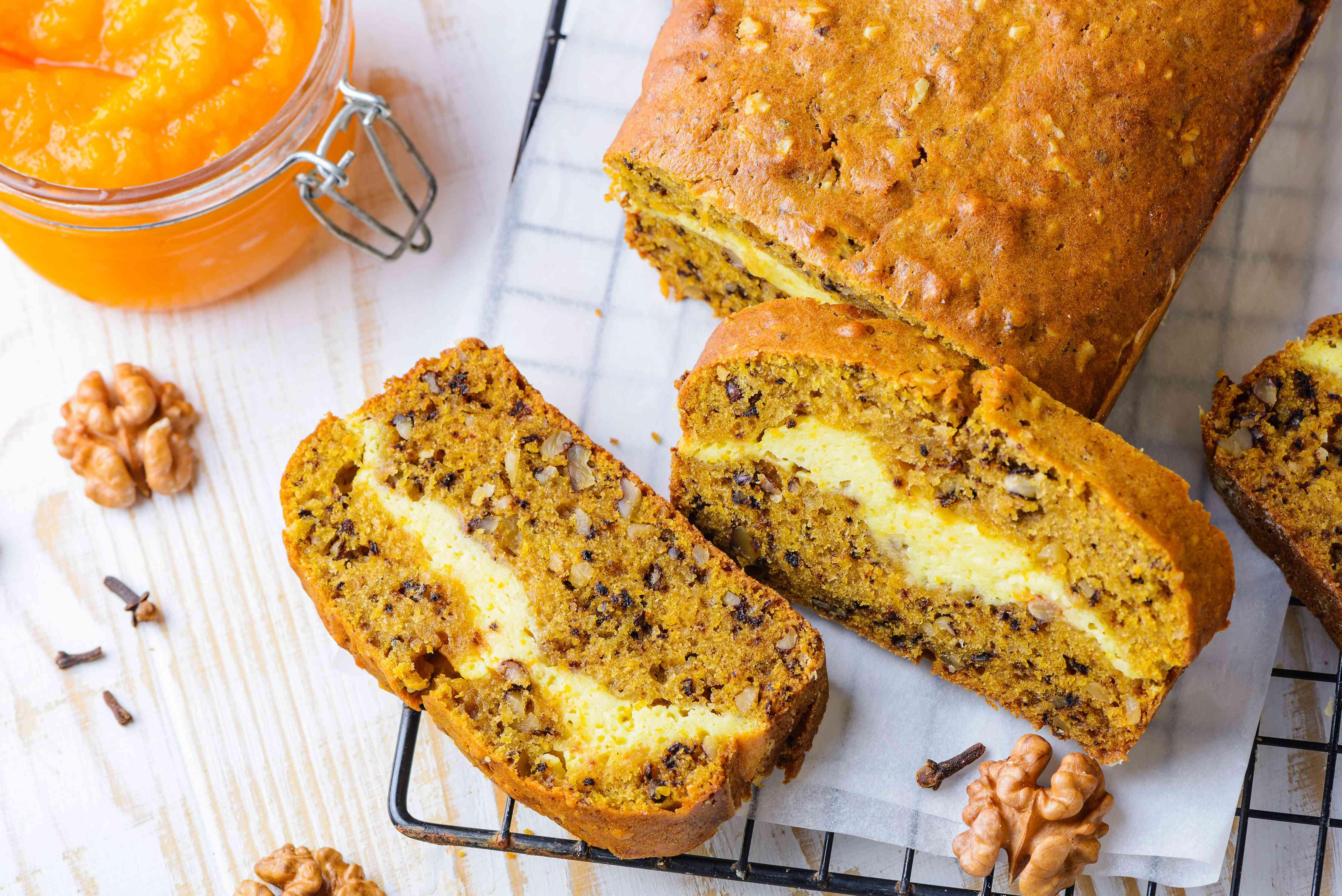 Pumpkin bread cream cheese filling recipe