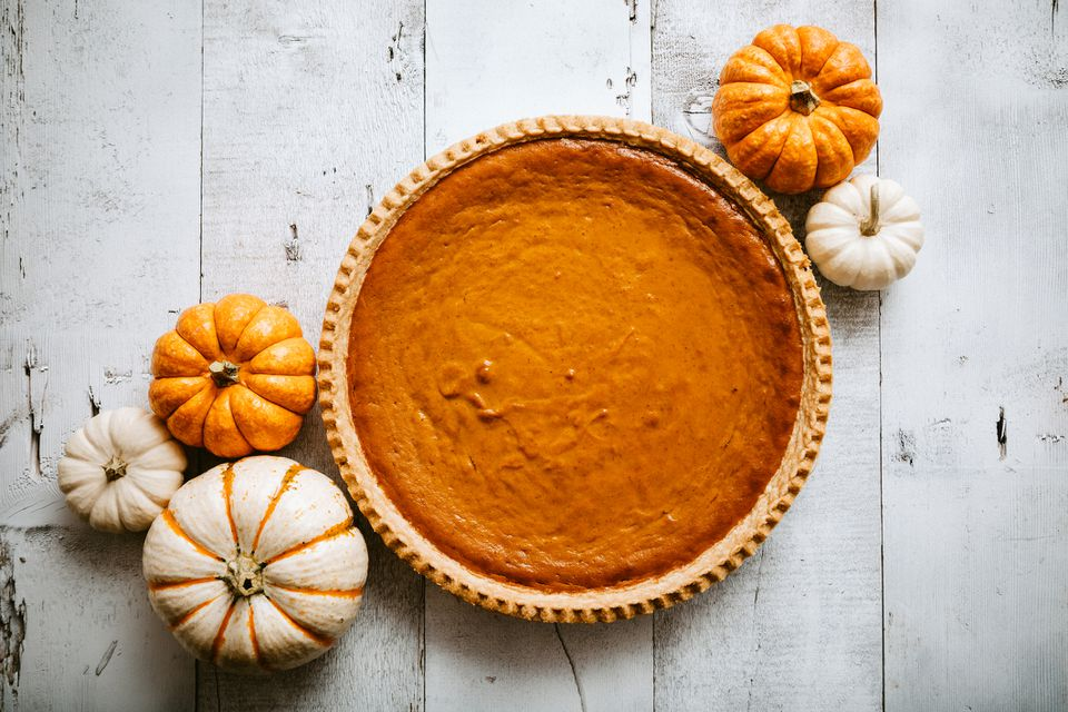 Classic pumpkin pie shot from overheard
