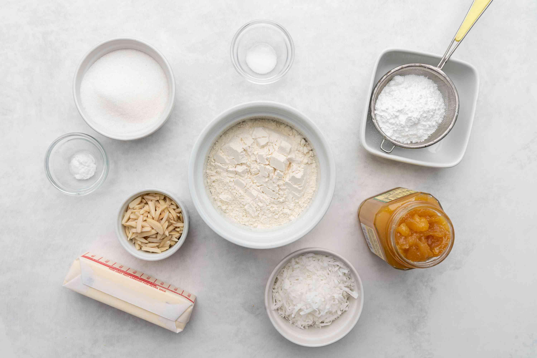 Lemon Curd Bars ingredients