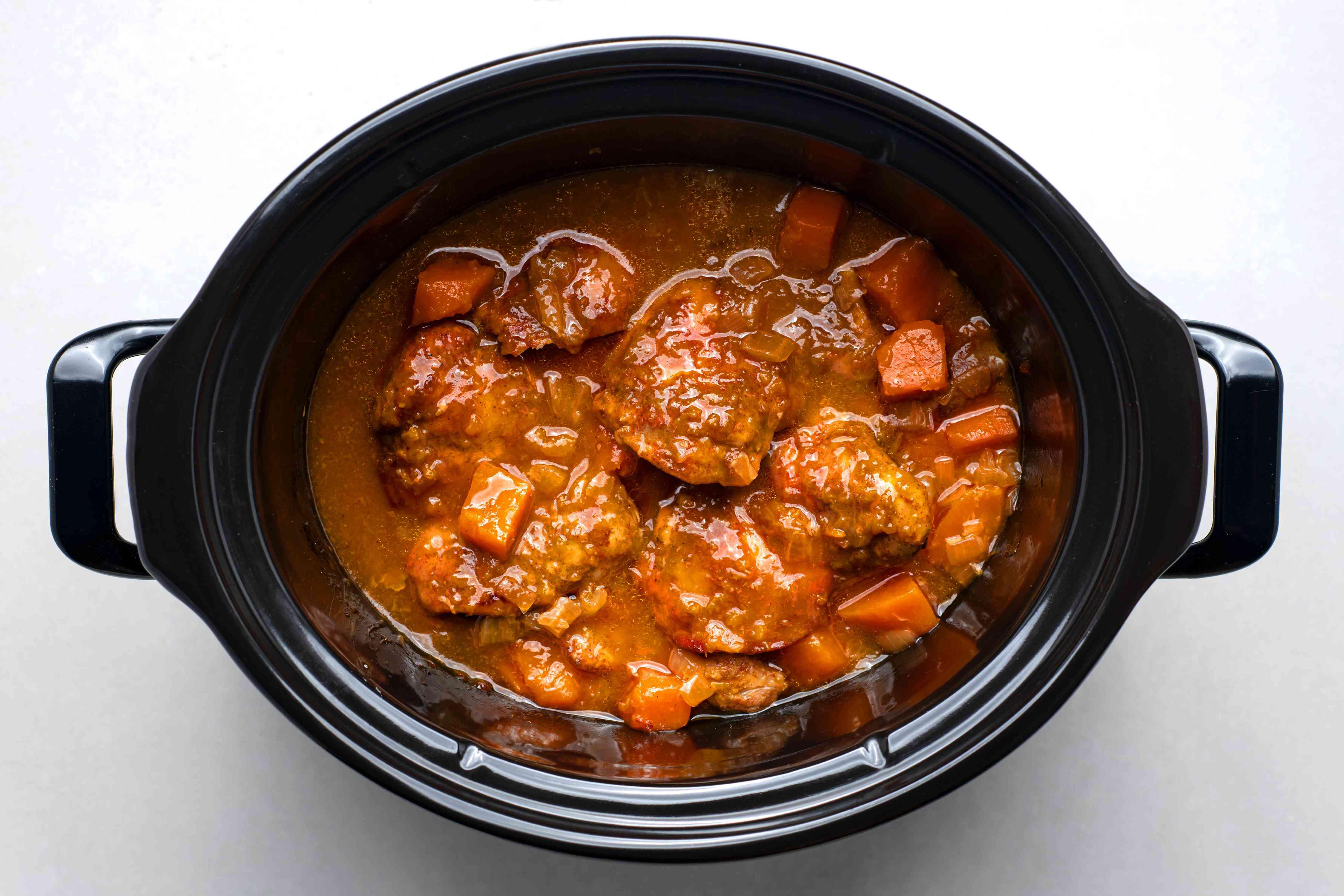 Crockpot Chicken and Sweet Potatoes