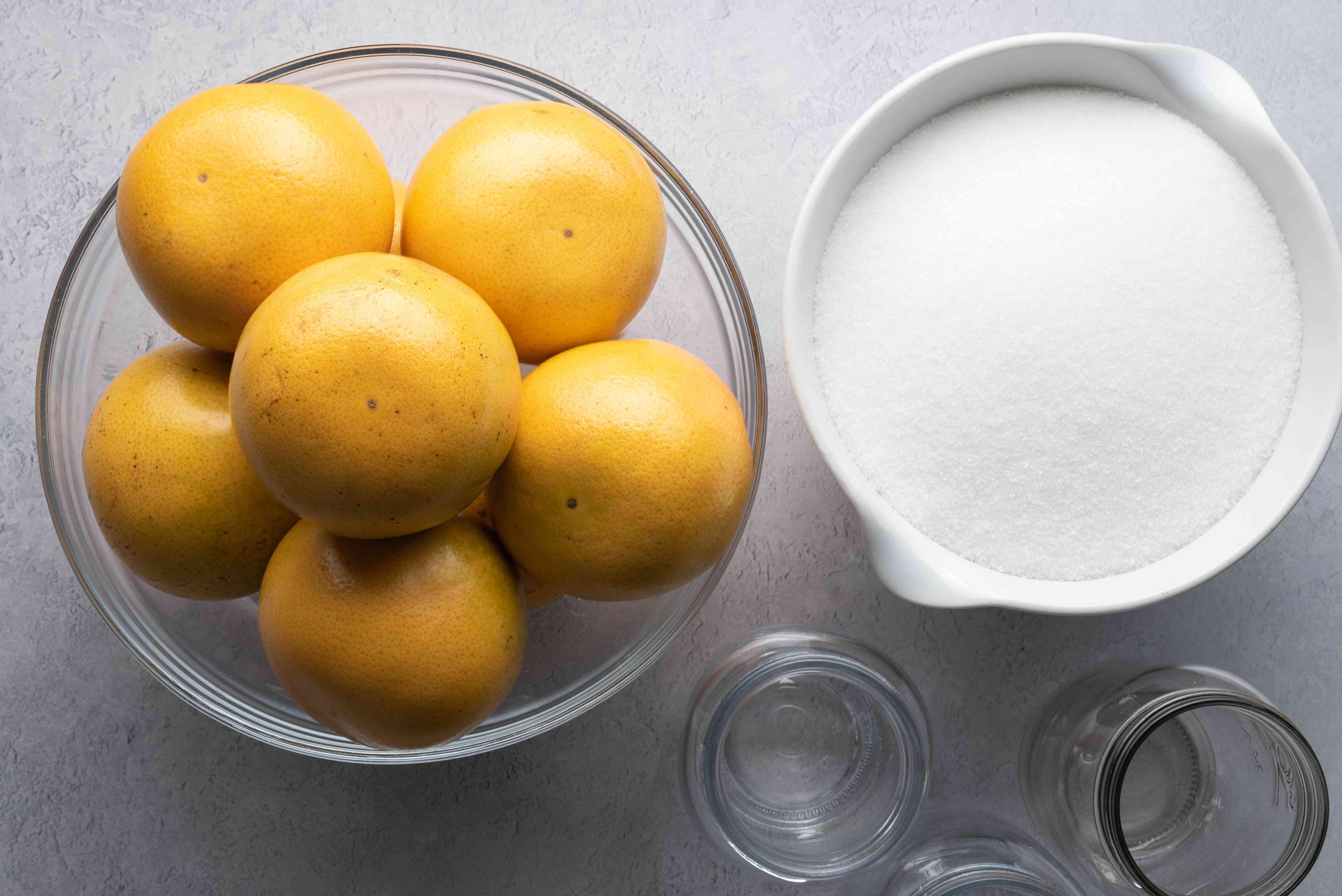 Grapefruit Marmalade ingredients