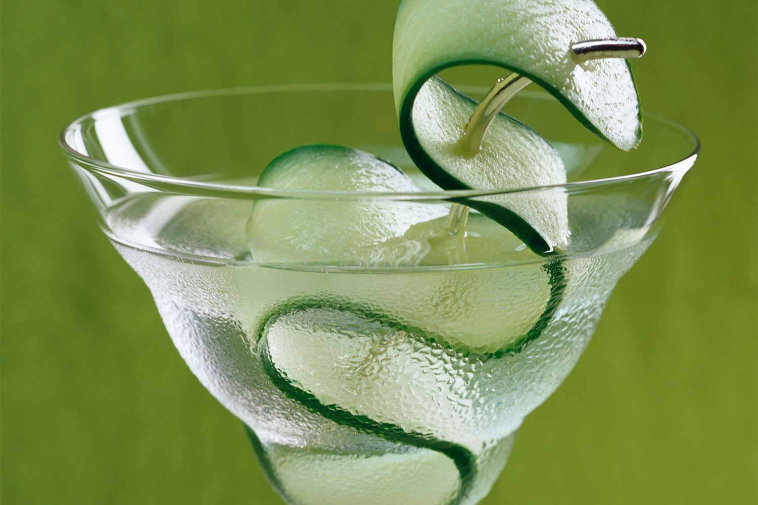 Saketini With a Cucumber Ribbon