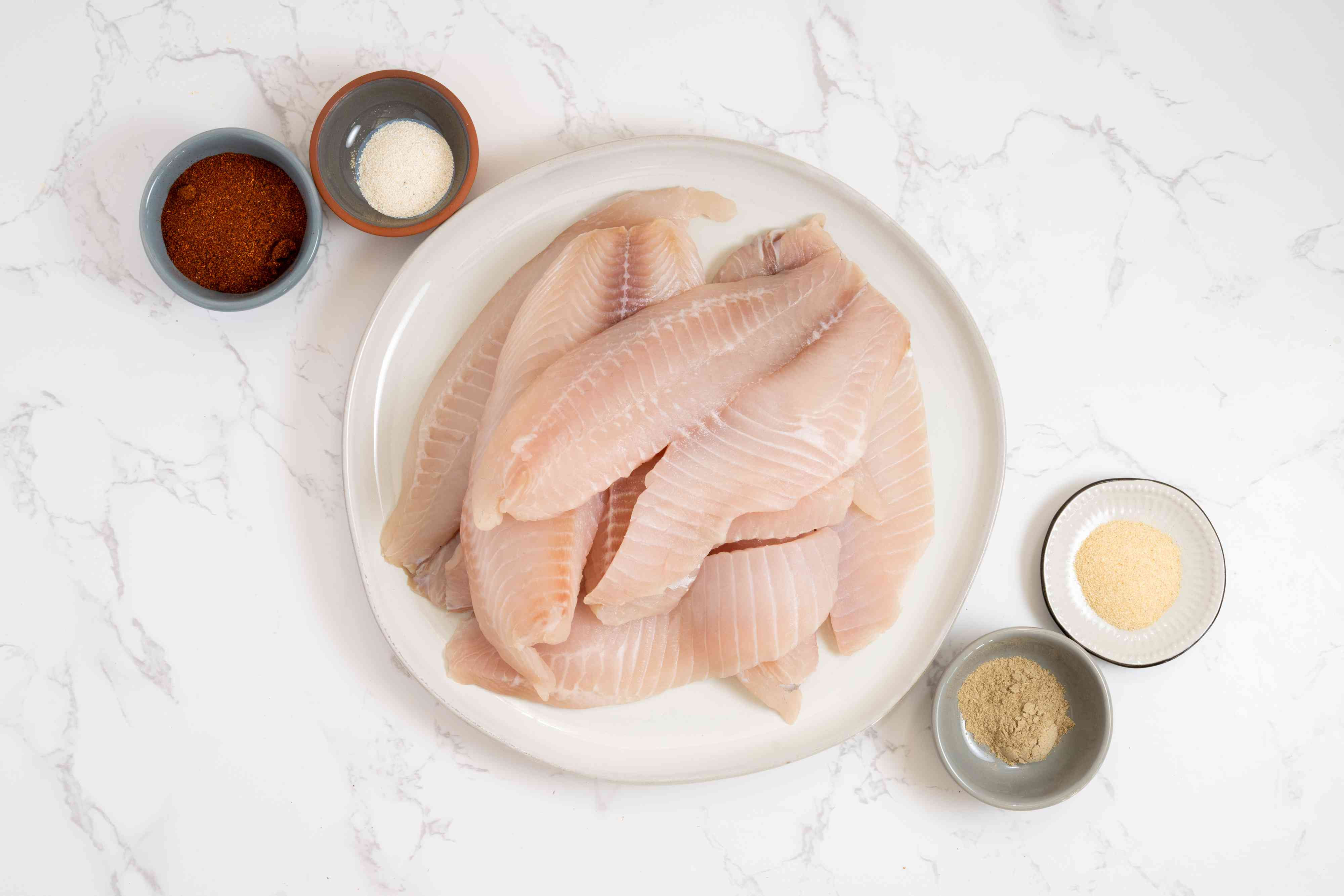 Spicy Tilapia with Aioli ingredients