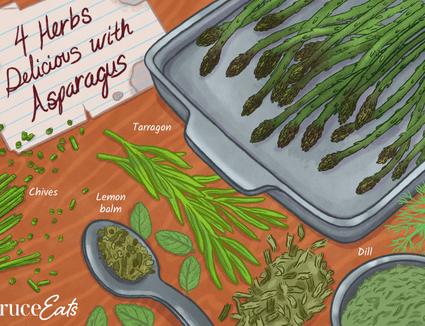 Herbs for seasoning asparagus