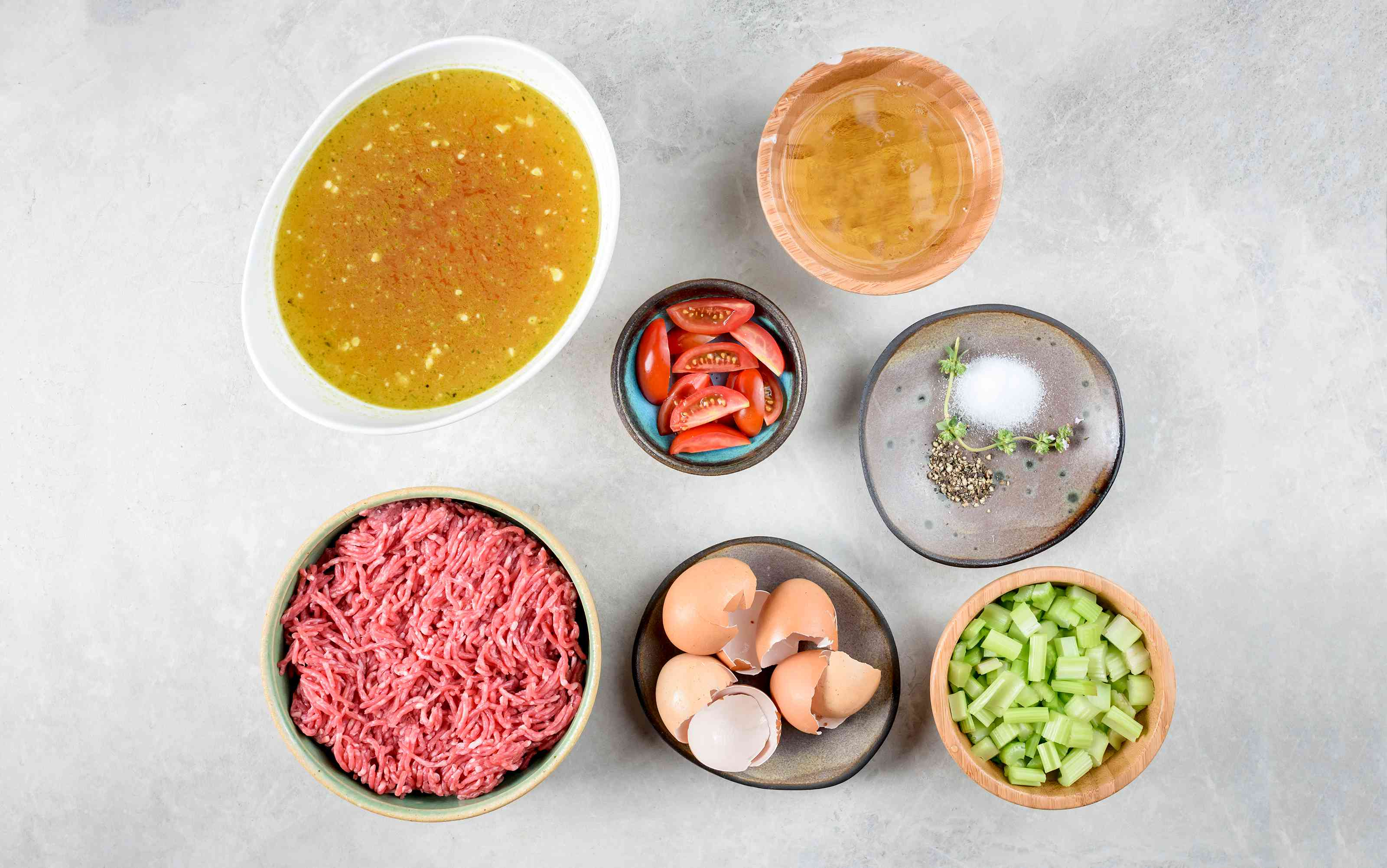 Ingredients for beef consommé