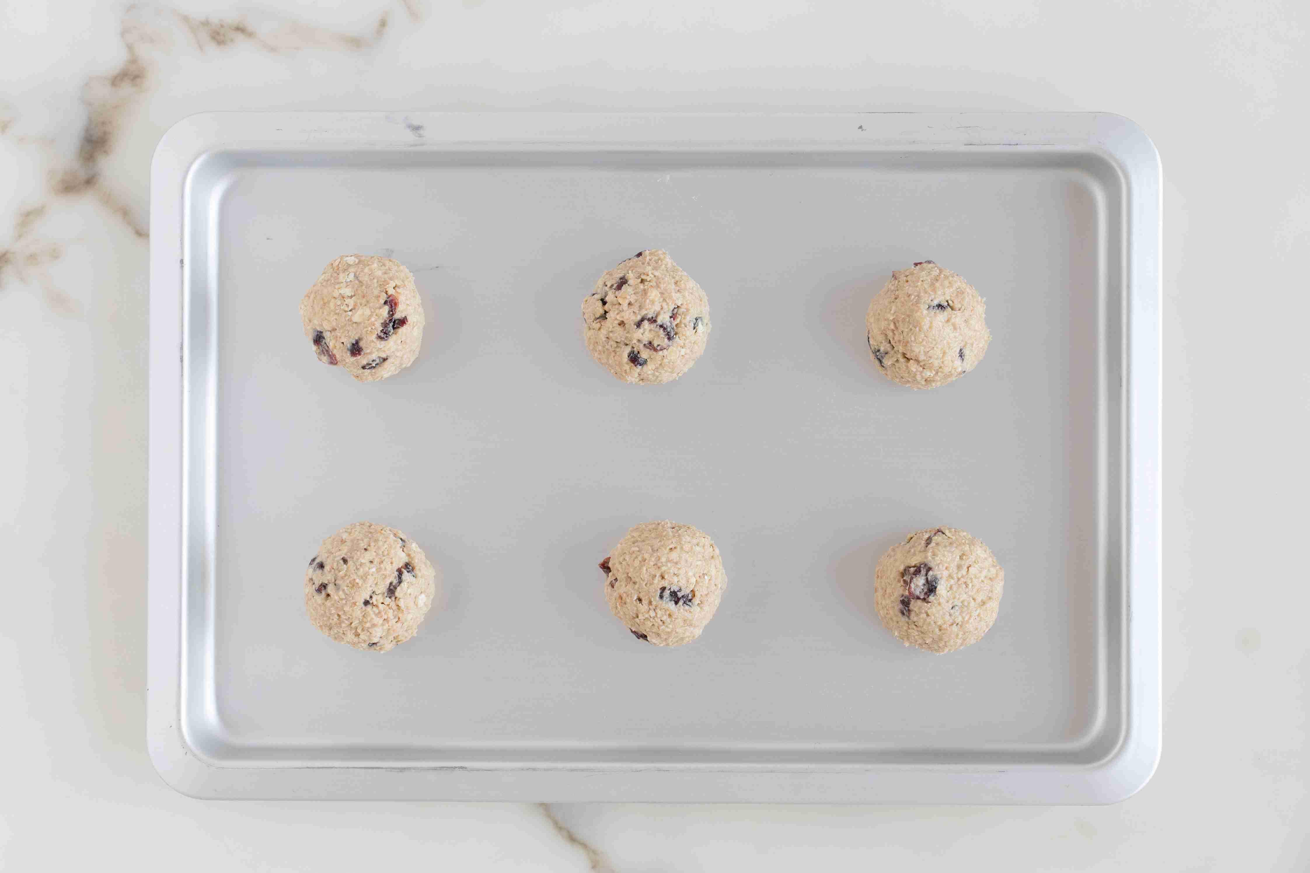 Spoon the dough into balls