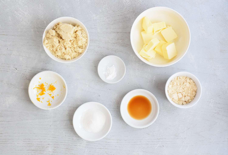 Ingredients for keto sugar cookies