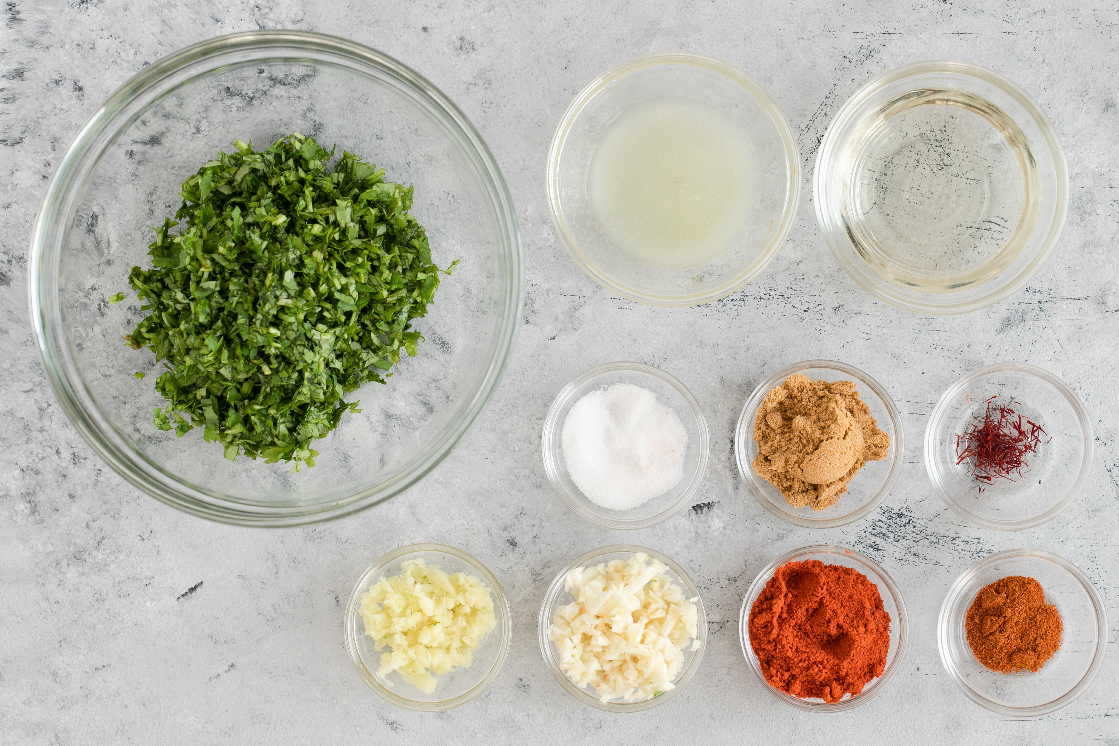 Ingredients for Chermoula