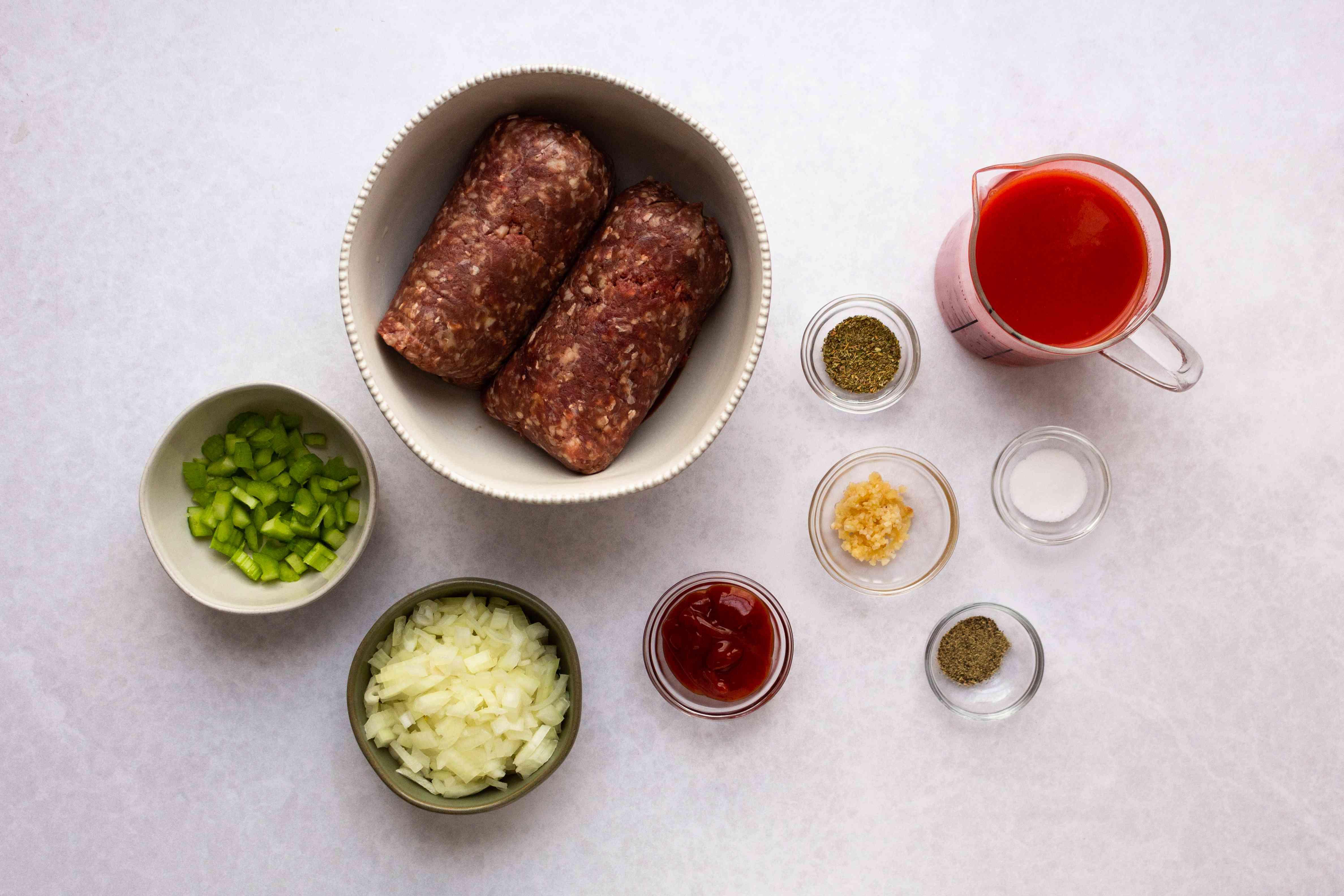 Slow Cooker Hamburgers ingredients