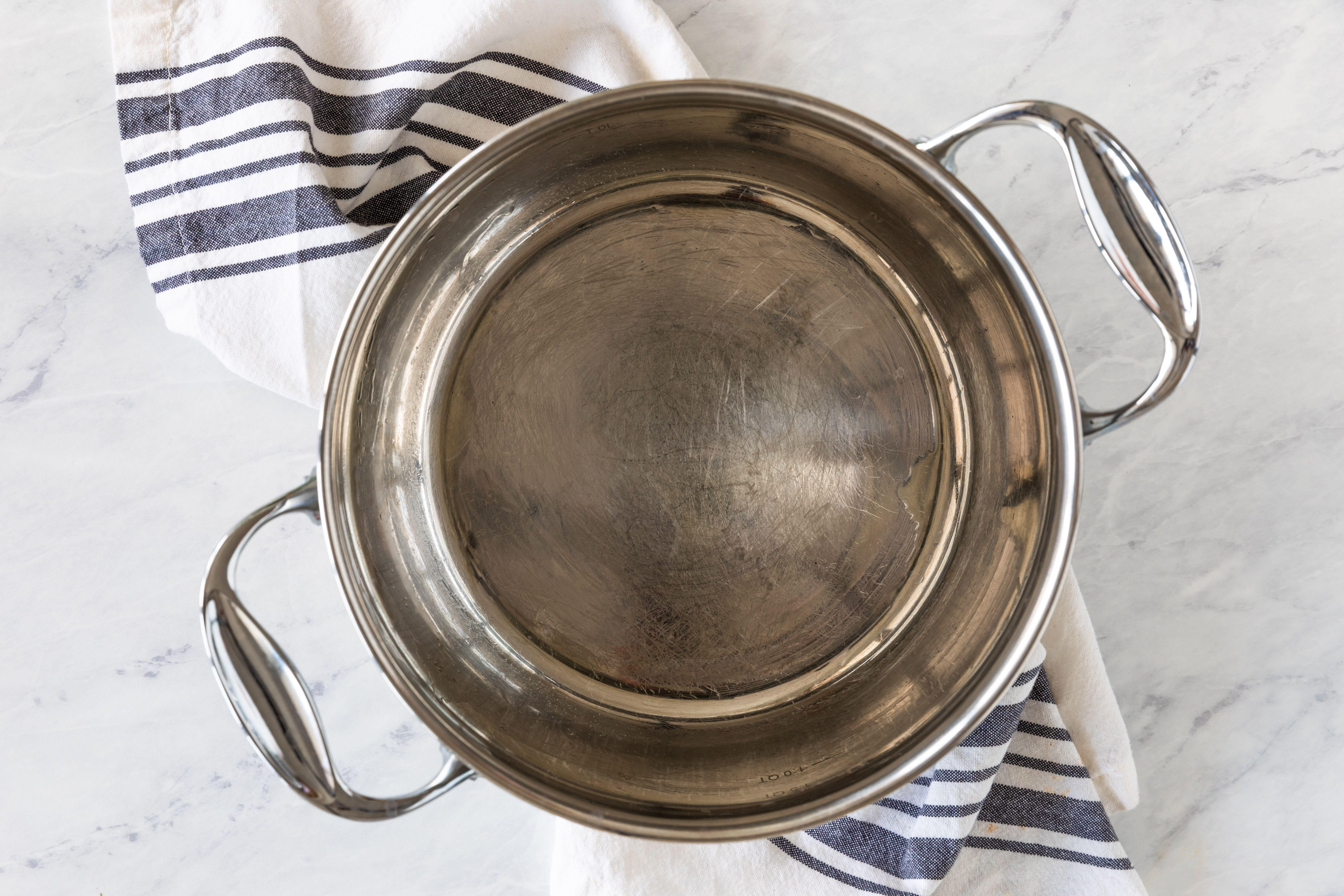 spray 4-quart saucepan with non-stick cooking spray