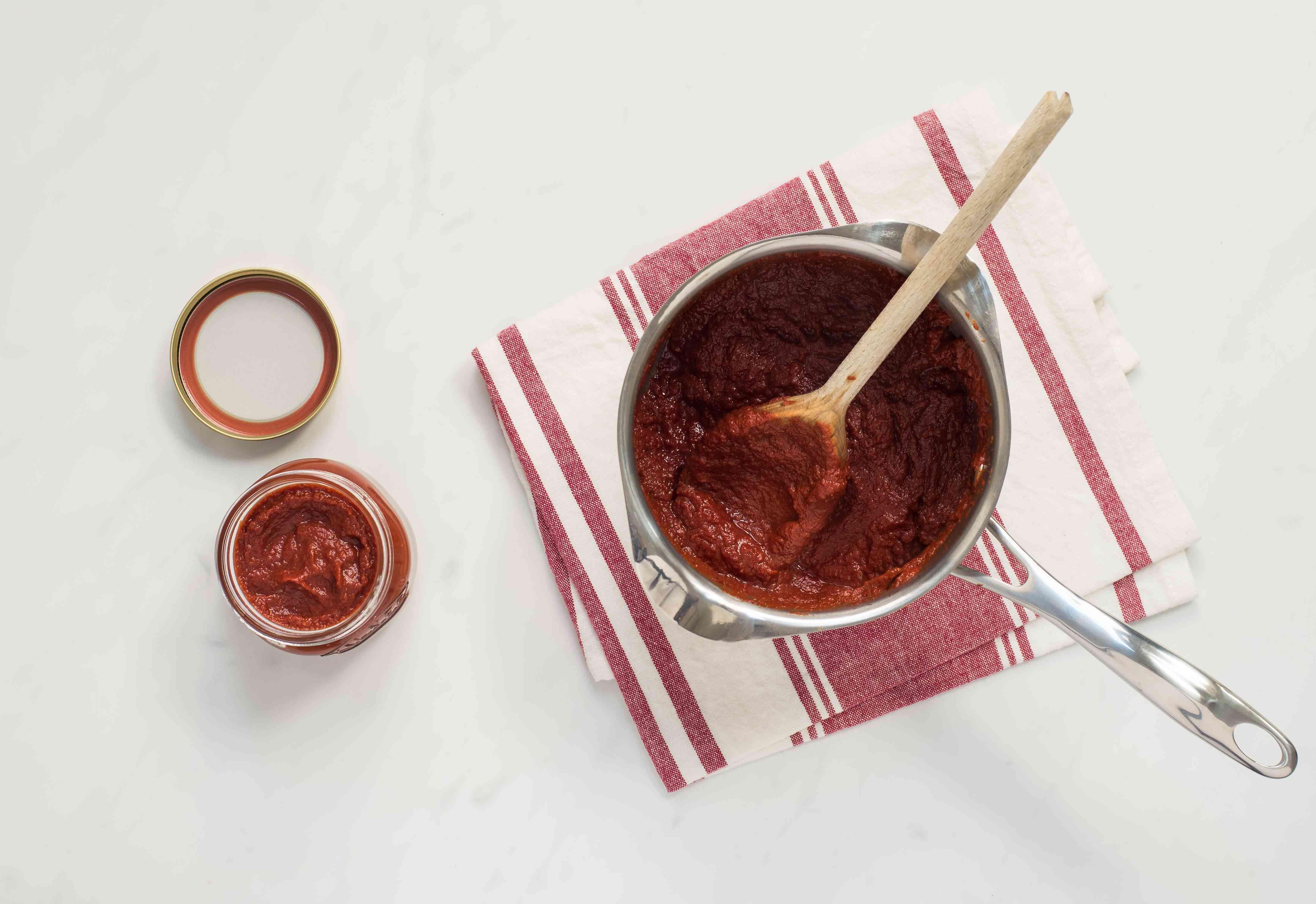 Ketchup in a jar