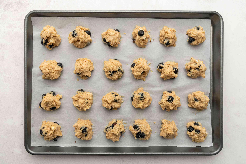 scones batter on a baking sheet