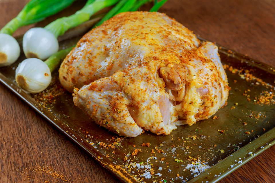 Marinating a whole chicken