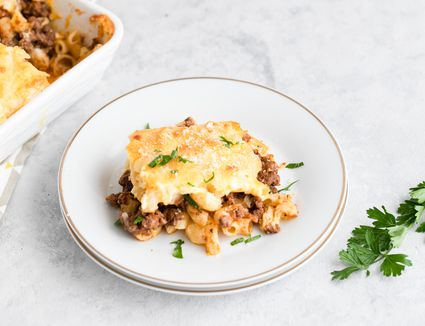 Pastitsio baked pasta with meat recipe