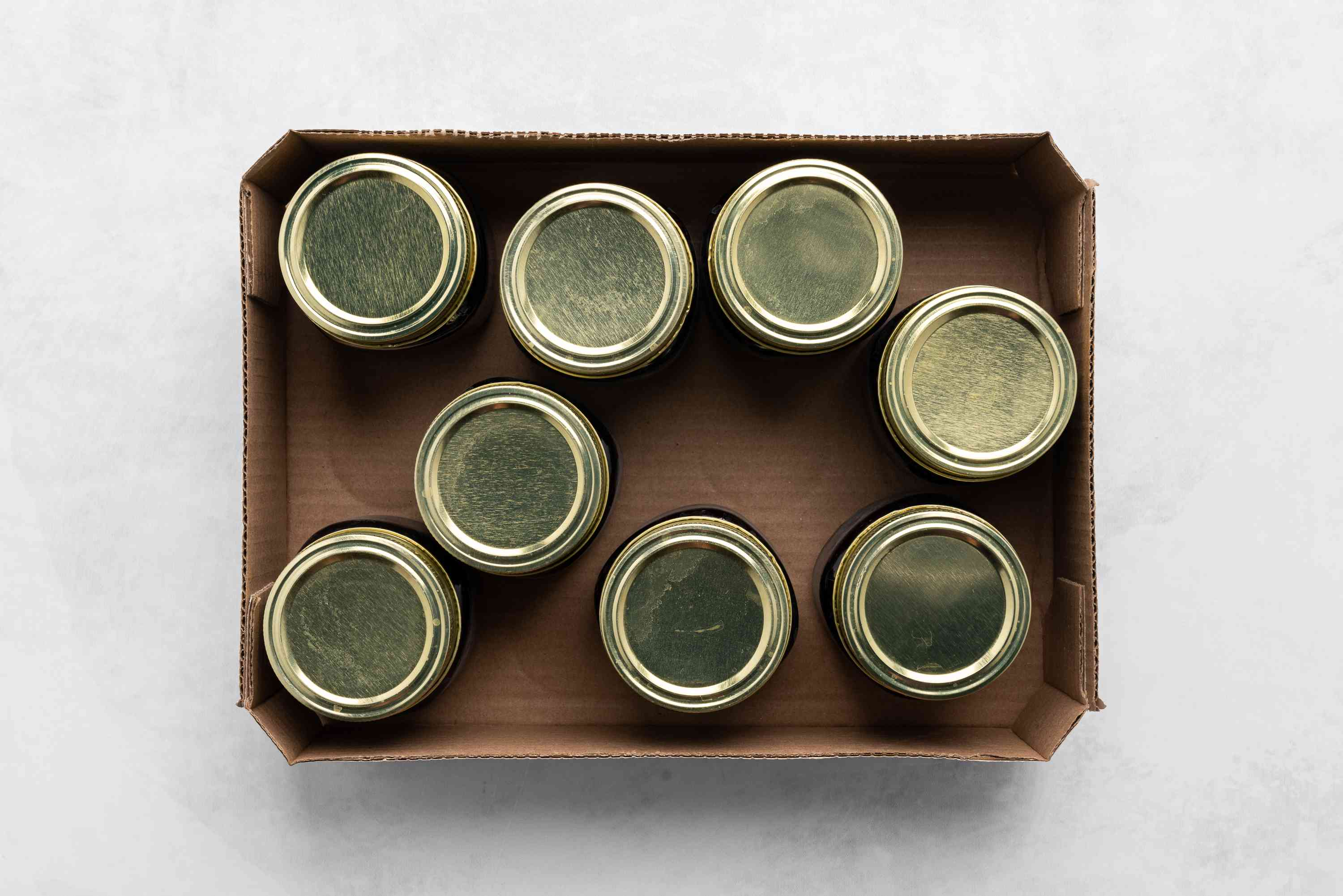 Easy-to-Make Recipe for Homemade Mulberry Jam, jars in a box