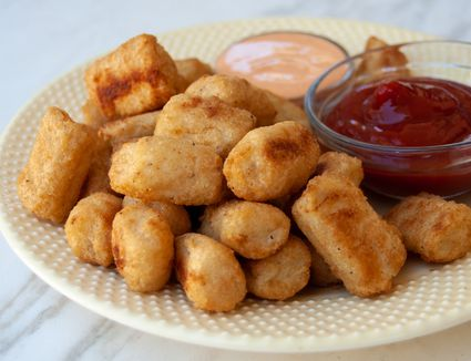 cauliflower tots with dipping sauces