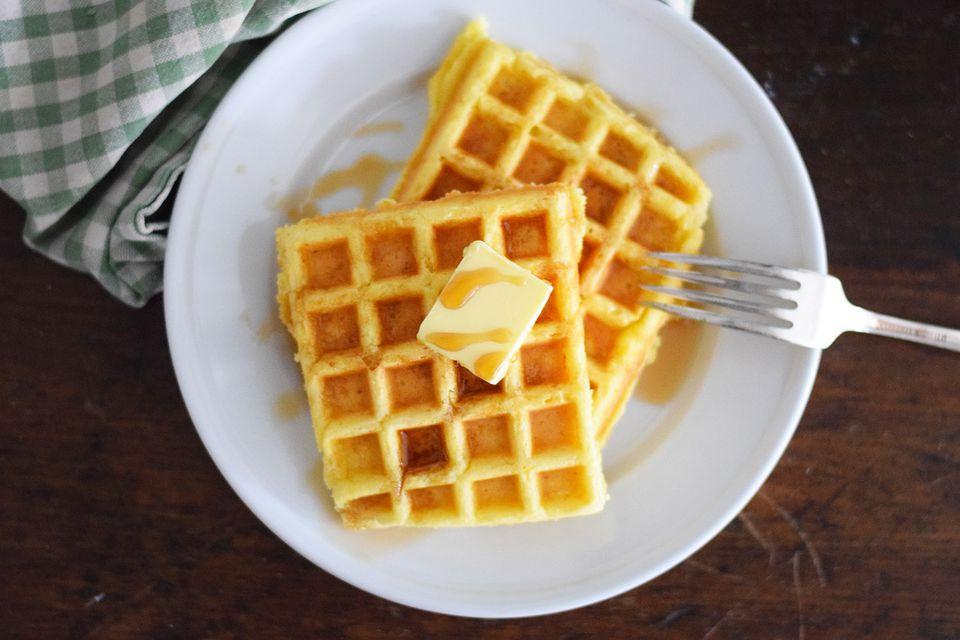 sweet corn waffles