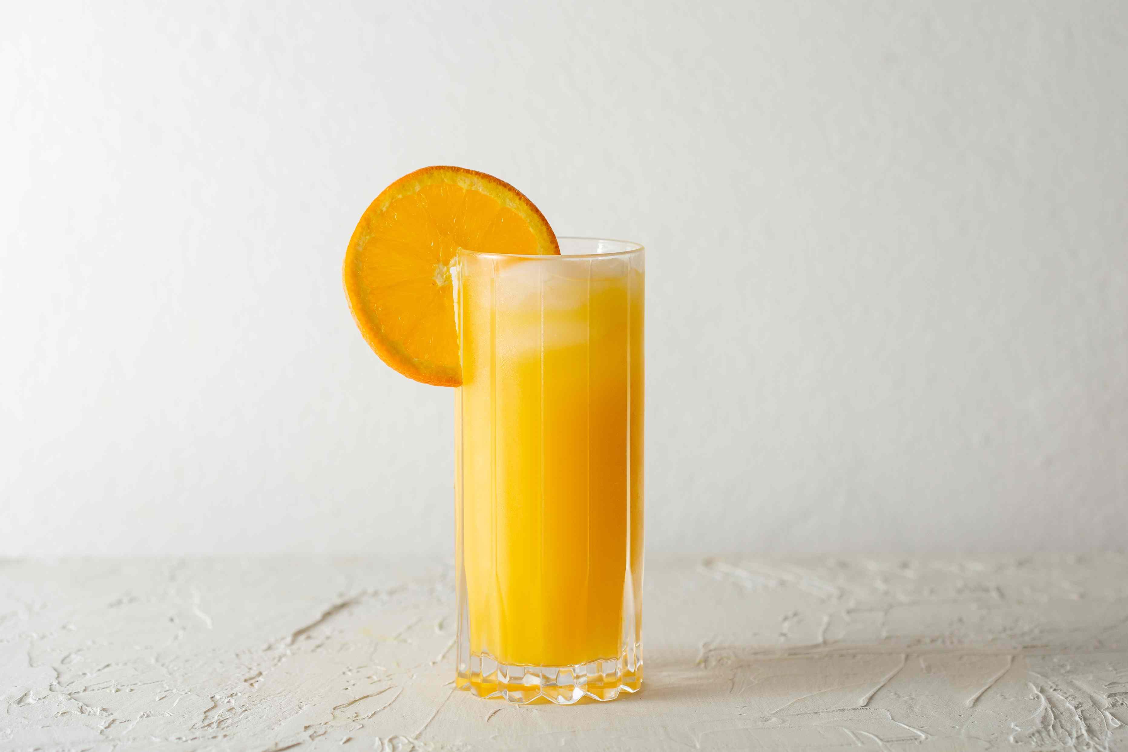 Garnish with an orange slice