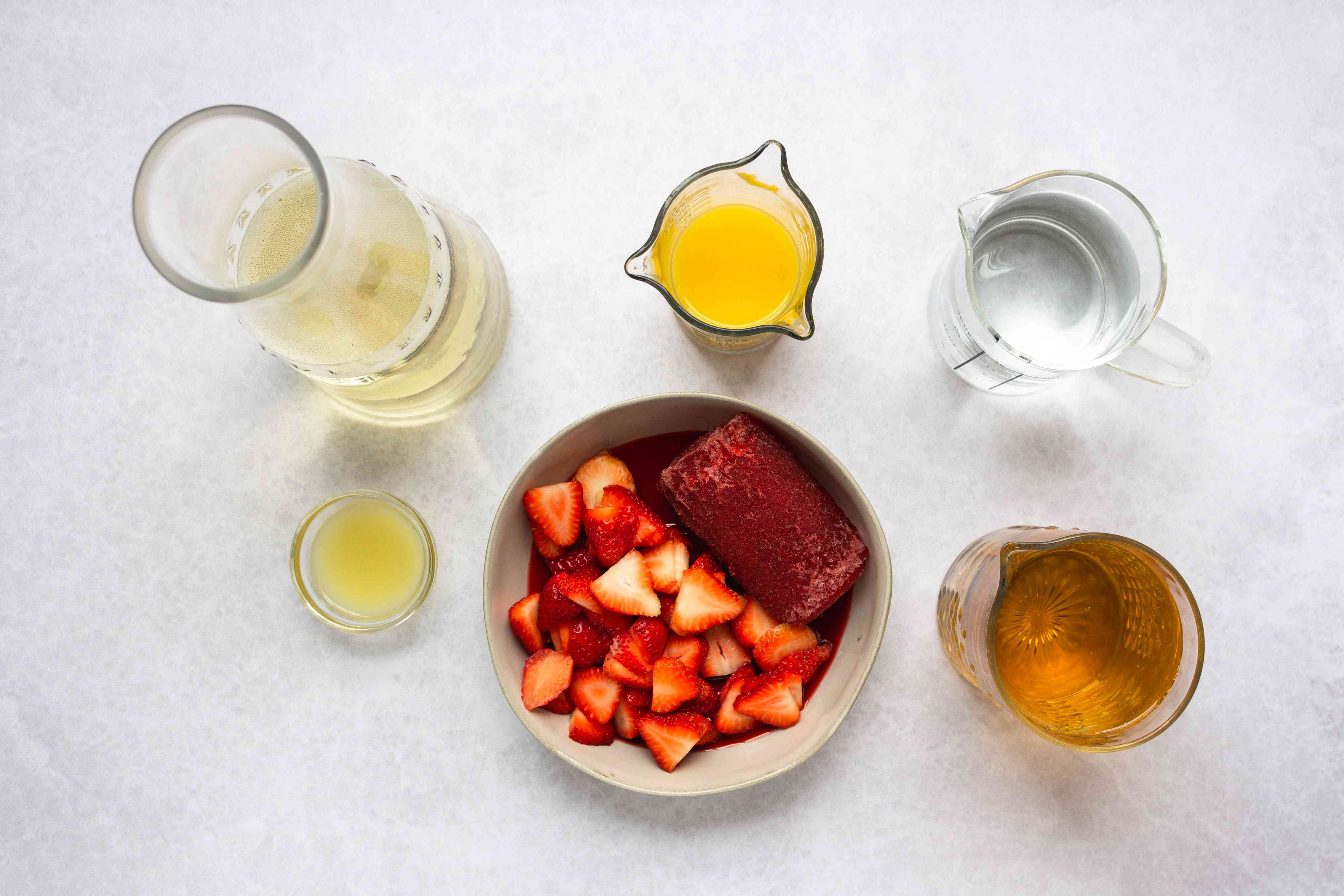 Strawberry Champagne Punch ingredients