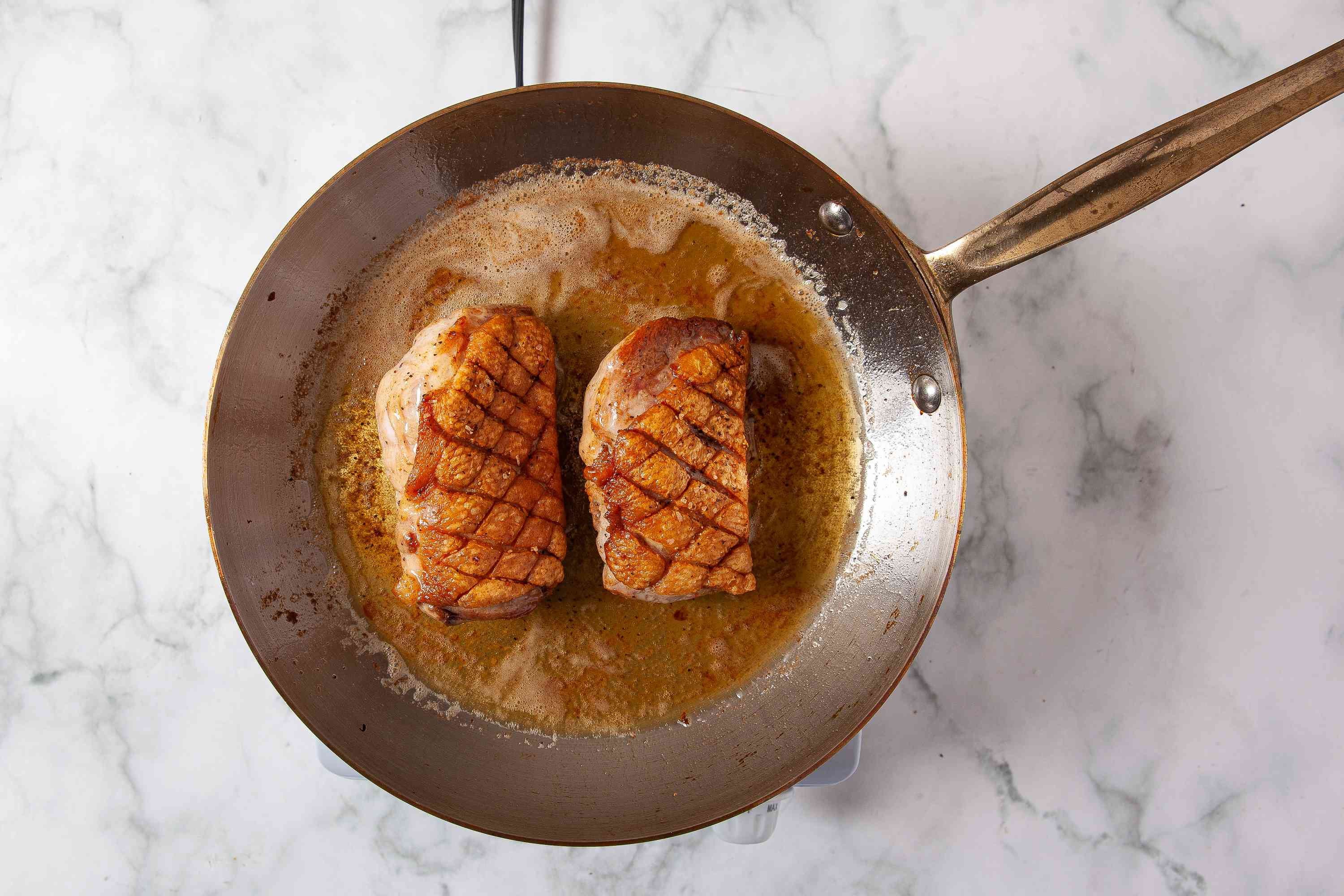 cook duck breast in a pan