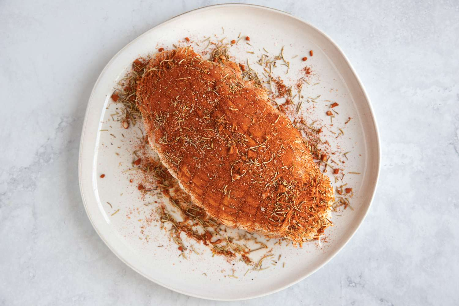 turkey rubbed with spices