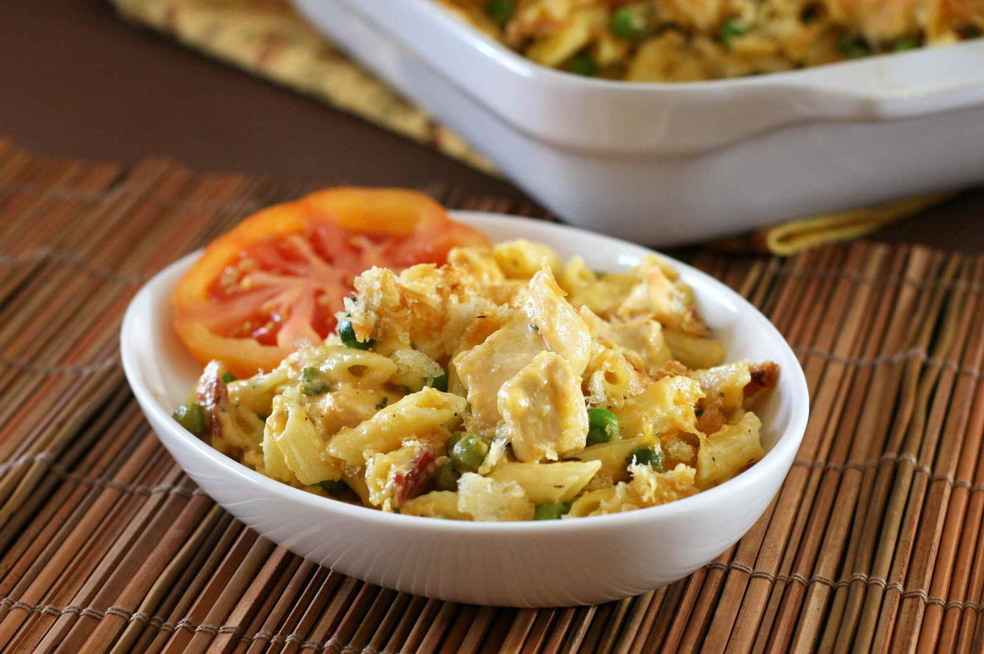 Chicken, Cheddar, and Bacon Casserole
