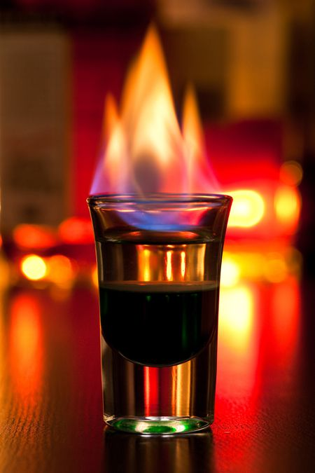 how to make a flaming dr pepper shot