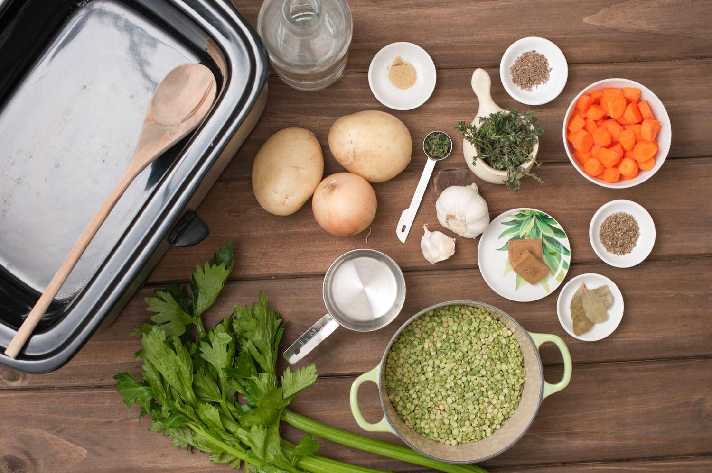 Crock Pot Vegetarian Split Pea Soup Ingredients